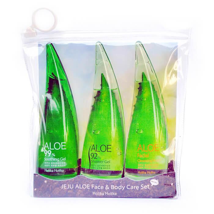 Купить Набор с алоэ Holika Holika Jeju Aloe Face & Body Care Set, Набор средств на основе сока алоэ вера для ухода за лицом и телом