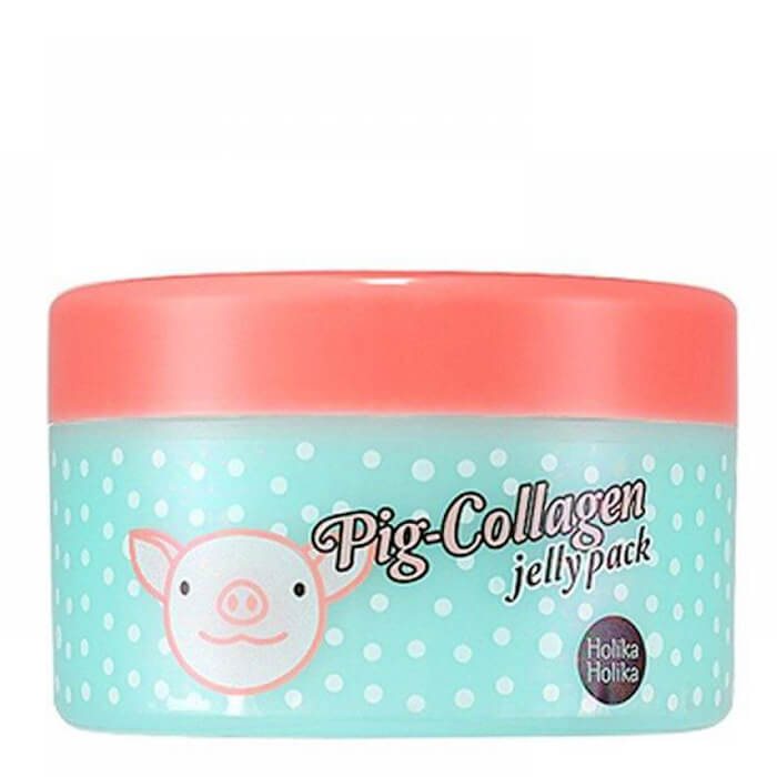 Купить Ночная маска Holika Holika Pig-Collagen Jelly Pack, Ночная маска для лица с 70% свиным коллагеном, Южная Корея