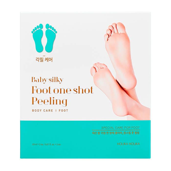 Купить Пилинг для ног Holika Holika Baby Silky Foot One Shot Peeling, Жидкий пилинг для ступней ног с AHA кислотами, Южная Корея