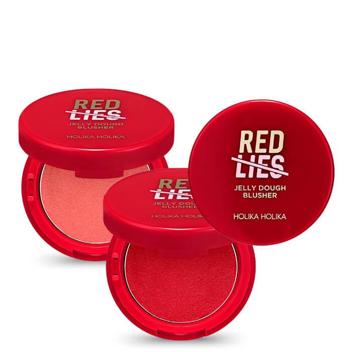 Купить Румяна для лица Holika Holika Red Lies Jelly Dough Blusher, Нежные желейные румяна для лица с гелевой стойокой текстурой, Южная Корея