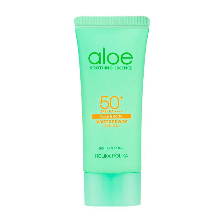 Купить Солнцезащитный гель Holika Holika Aloe Waterproof Sun Gel, Водостойкий солнцезащитный гель для лица и тела с экстрактом алоэ, Южная Корея