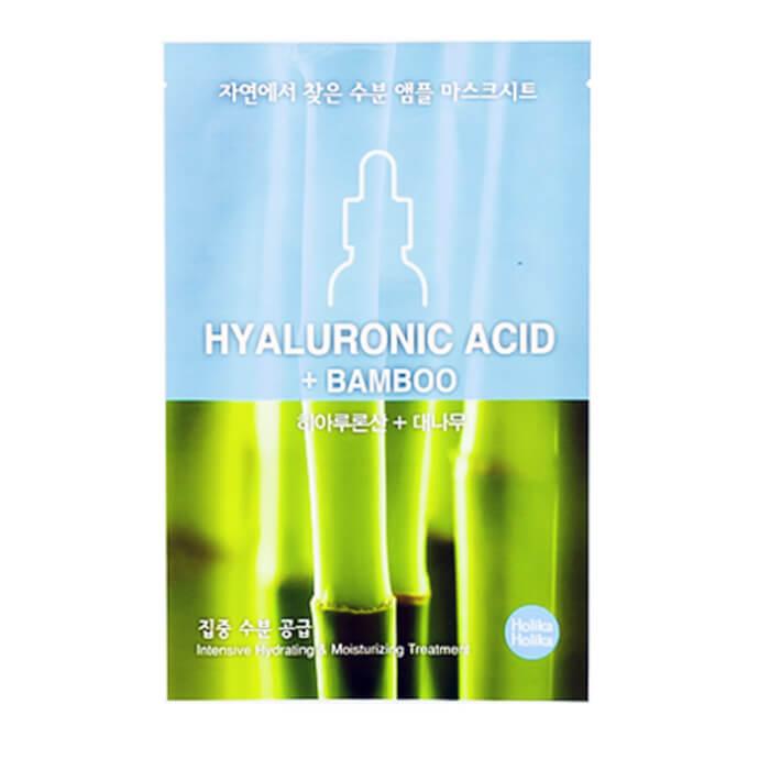 Купить Тканевая маска Holika Holika Ampoule Essence Mask Sheet Hyaluronic Acid, Увлажняющая тканевая маска для лица с гиалуроновой кислотой, Южная Корея