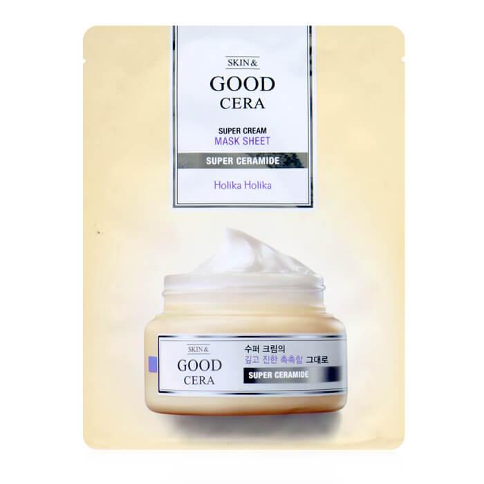 Купить Тканевая маска Holika Holika Skin & Good Cera Super Cream Mask Sheet, Тканевая увлажняющая маска для лица с керамидами, Южная Корея