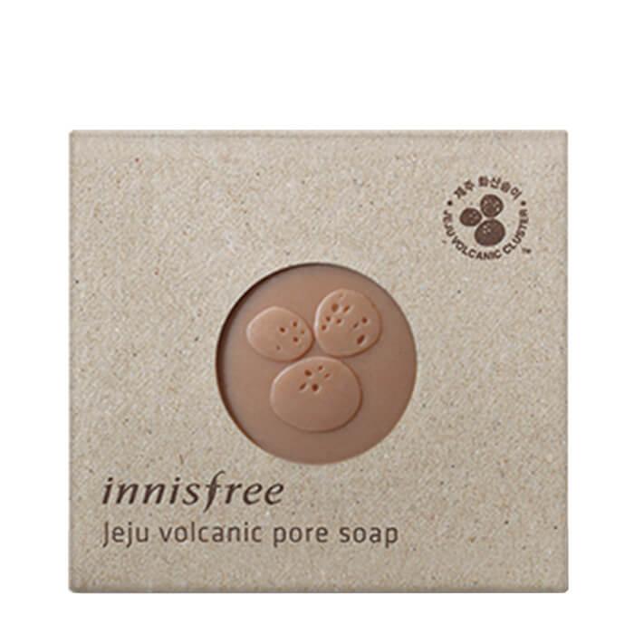Купить Мыло для лица Innisfree Jeju Volcanic Pore Soap, Косметическое мыло для лица с вулканическим пеплом, Южная Корея
