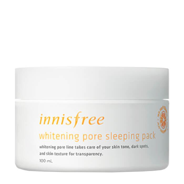 Купить Ночная маска Innisfree Whitening Pore Sleeping Pack, Осветляющая ночная маска для лица с витамином С, Южная Корея
