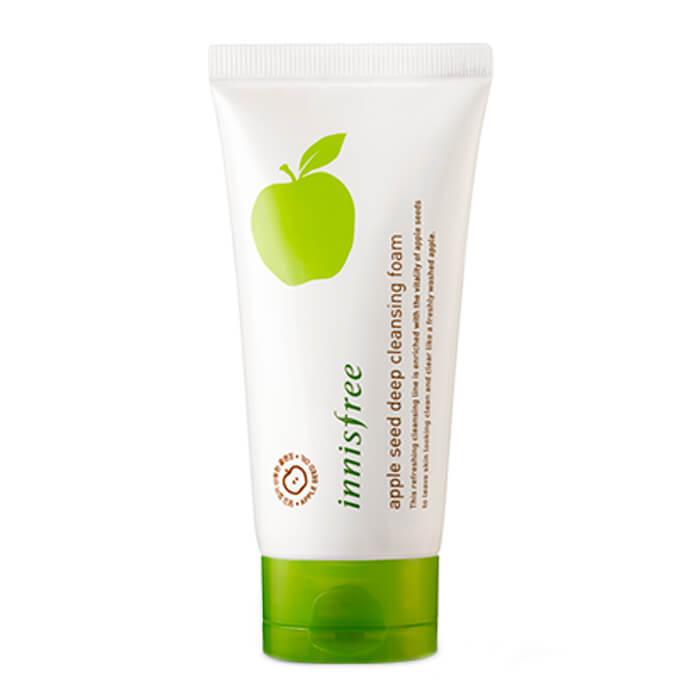 Купить Очищающая пенка Innisfree Apple Seed Deep Cleansing Foam, Увлажняющая пенка для умывания лица с экстрактом яблока, Южная Корея