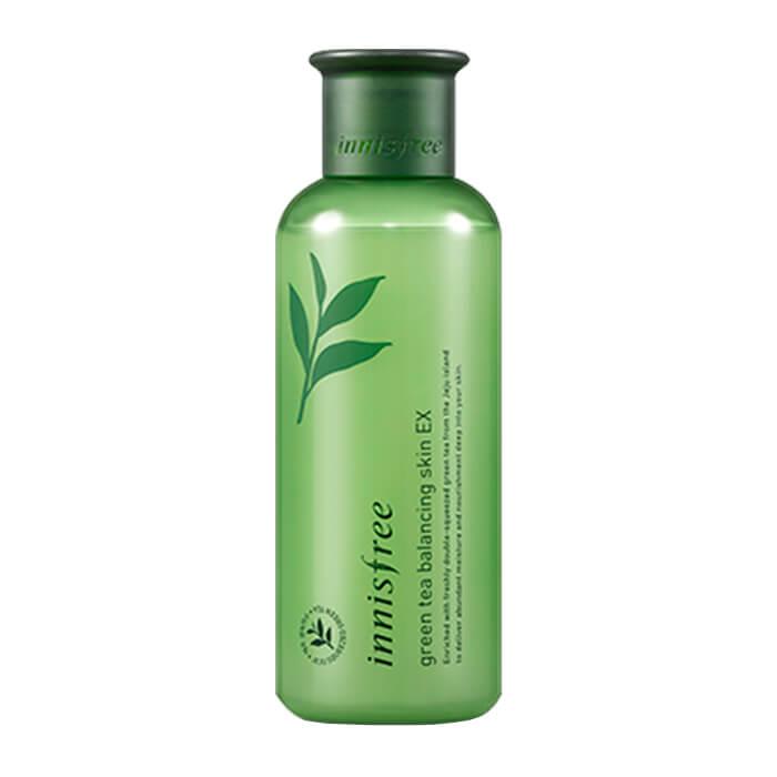 Купить Тоник для лица Innisfree Green Tea Balancing Skin EX, Интенсивно увлажняющий тонер для лица с экстрактом зелёного чая, Южная Корея