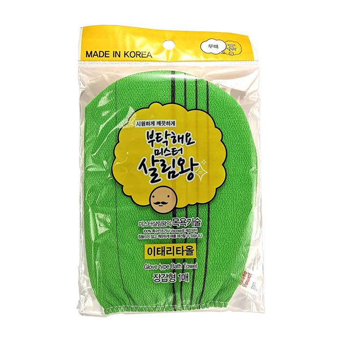 Мочалка-рукавичка для тела Insan Glove Type Bath Towel (жёсткая, зелёная)