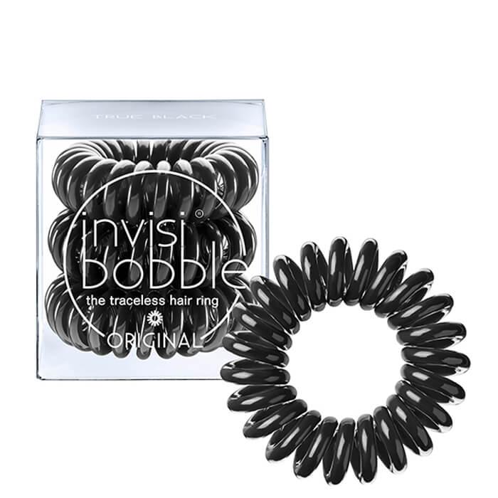 Купить Резинка-браслет для волос Invisibobble Original - True Black, Чёрная резинка-браслет для волос из искусственной смолы, Китай