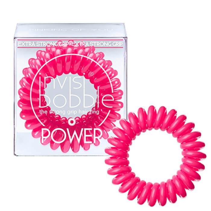 Купить Резинка-браслет для волос Invisibobble Power - Pinking of You, Розовая резинка-браслет для волос экстрасильной фиксации, Китай