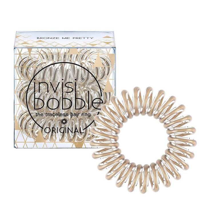 Резинка-браслет для волос Invisibobble Time To Shine - Bronze Me Pretty Бронзовая блестящая резинка-браслет для волос фото