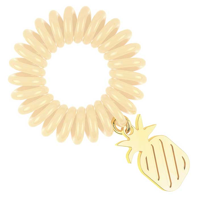 Купить Резинка-браслет для волос Invisibobble Tutti Frutti - Pineappeal, Резинка-браслет для волос из летней лимитированной коллекции, Китай