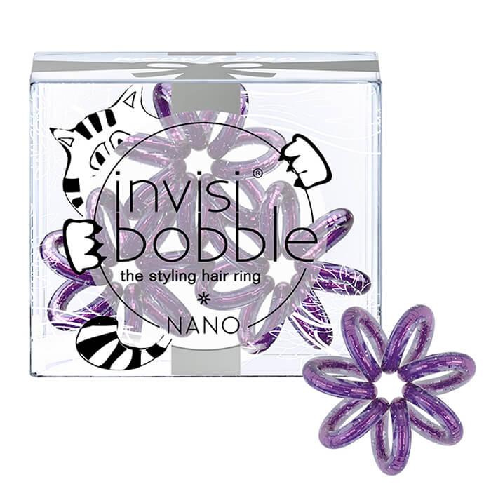 Купить Резинка для волос Invisibobble Nano - Meow & Ciao, Мерцающая фиолетовая резинка для волос из искусственной смолы, Китай
