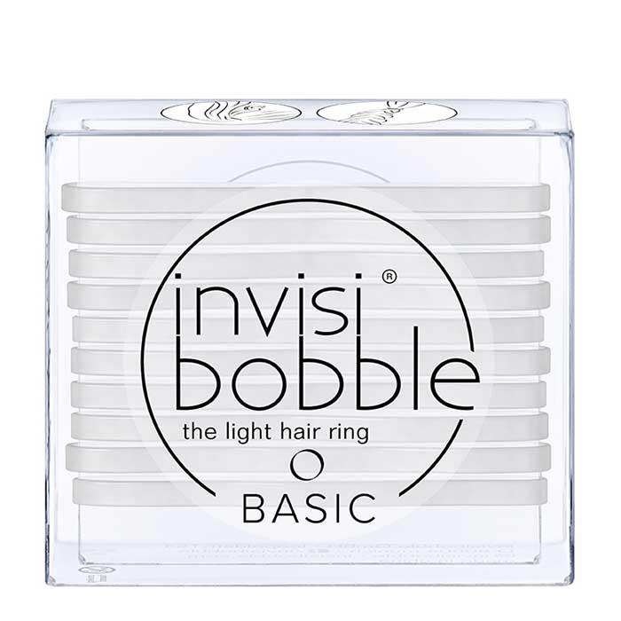 Купить Резинки для волос Invisibobble Basic - Crystal Clear, Набор надёжных простых резинок для всех типов волос, Китай