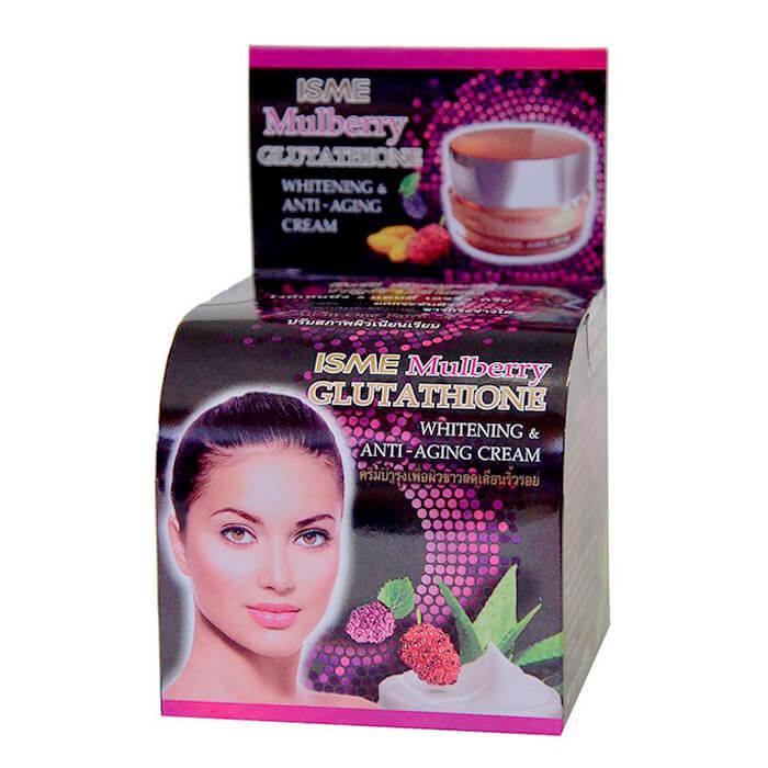 Купить Крем для лица Isme Mulberry Glutathione Whitening & Anti-Aging Cream, Антивозрастной крем для зрелой кожи лица с шелковицей и глутатионом, Таиланд