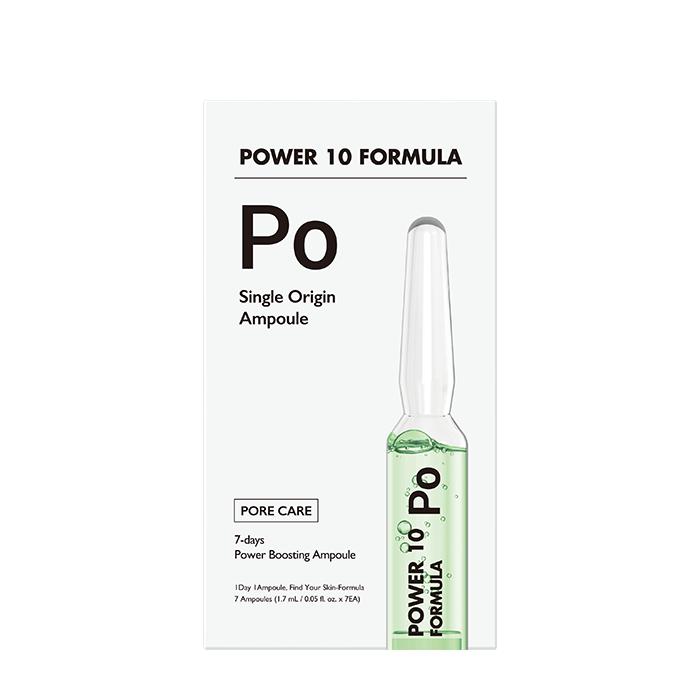 Купить Сыворотка для лица It's Skin Power 10 Formula PO Single Origin Ampoule, 7-дневная интенсивная программа матирования и снятия раздражения кожи лица, Южная Корея