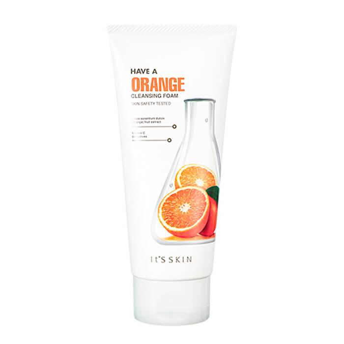 Купить Очищающая пенка It's Skin Have a Orange Cleansing Foam, Смягчающая пенка для умывания лица с экстрактом апельсина, Южная Корея