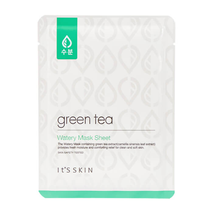 Тканевая маска It's Skin Green Tea Watery Mask Sheet.