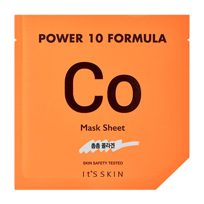 Купить Тканевая маска It's Skin Power 10 Formula Co Mask Sheet, Коллагеновая высококонцентрированная листовая маска для лица, Южная Корея