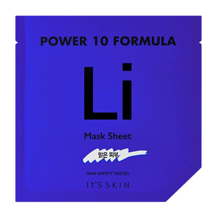Купить Тканевая маска It's Skin Power 10 Formula Li Mask Sheet, Успокаивающая высококонцентрированная листовая маска для лица, Южная Корея
