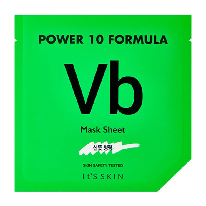 Купить Тканевая маска It's Skin Power 10 Formula Vb Mask Sheet, Высококонцентрированная листовая маска для лица для проблемной кожи, Южная Корея