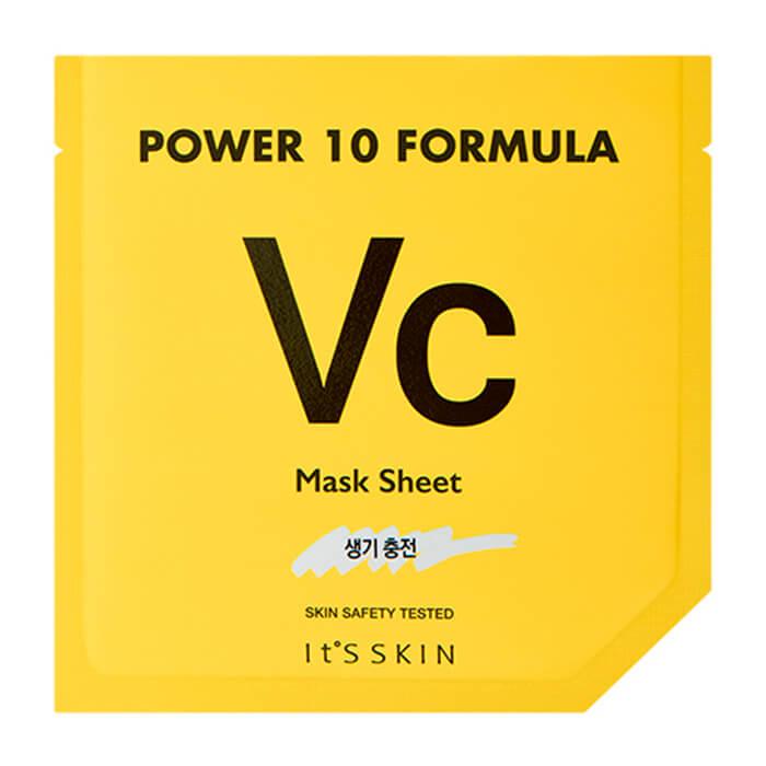 Купить Тканевая маска It's Skin Power 10 Formula Vc Mask Sheet, Тонизирующая высококонцентрированная листовая маска для лица, Южная Корея