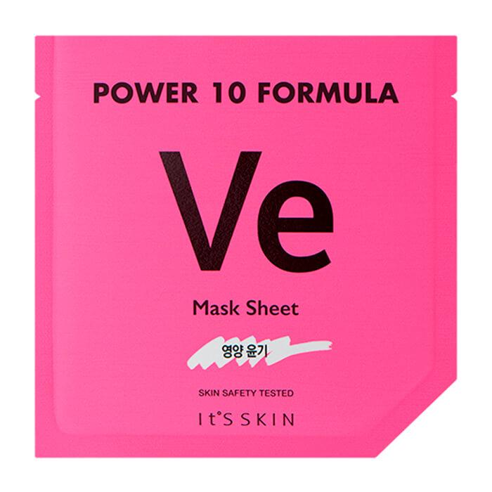 Купить Тканевая маска It's Skin Power 10 Formula Ve Mask Sheet, Питательная высококонцентрированная листовая маска для лица, Южная Корея