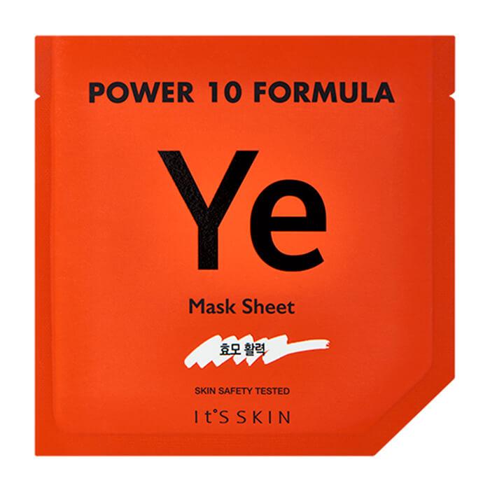 Купить Тканевая маска It's Skin Power 10 Formula Ye Mask Sheet, Стимулирующая высококонцентрированная листовая маска для лица, Южная Корея