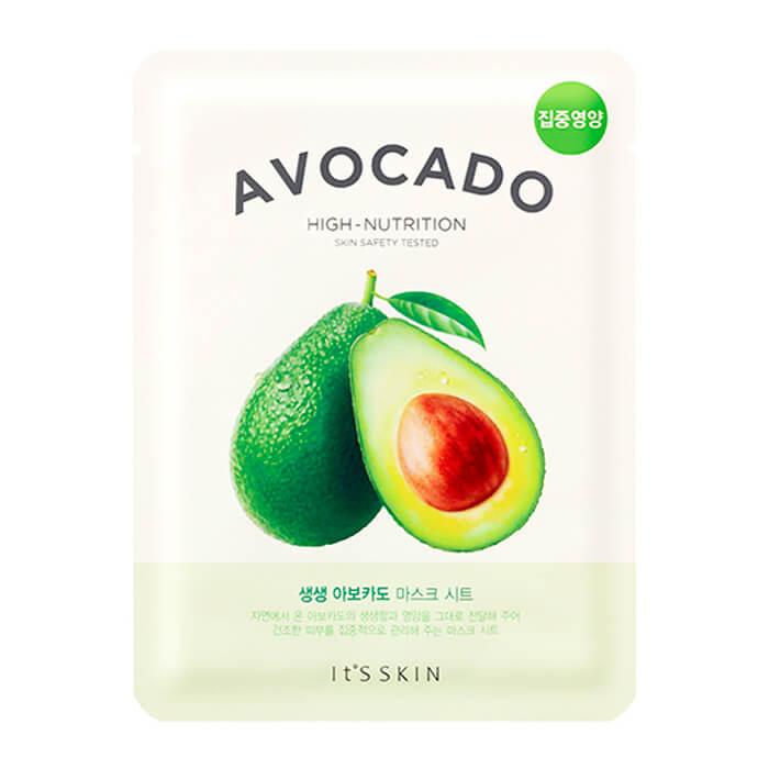 Купить Тканевая маска It's Skin The Fresh Avocado Mask Sheet, Смягчающая тканевая маска для лица с экстрактом авакадо, Южная Корея