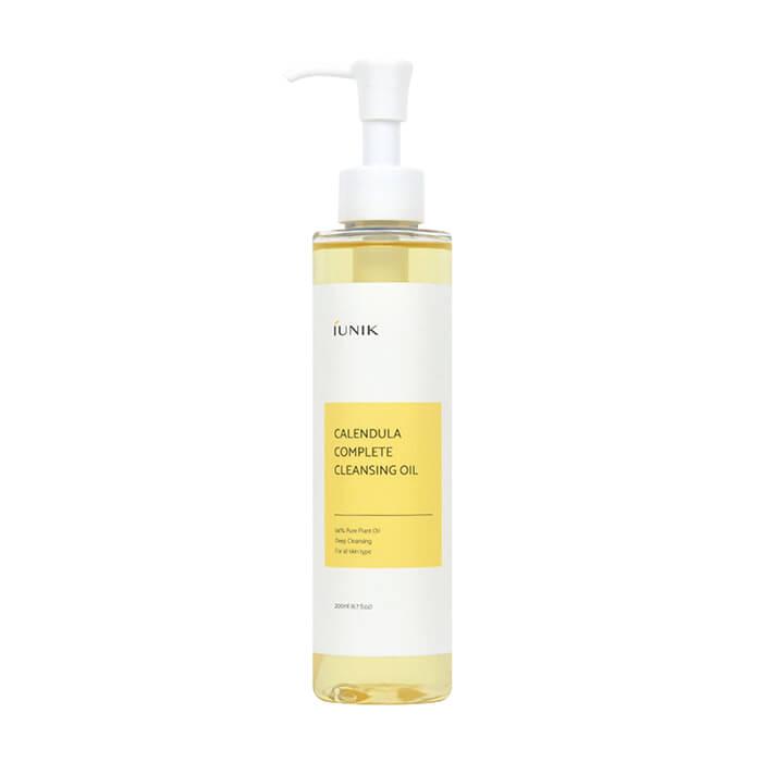 Гидрофильное масло iUNIK Calendula Complete Cleansing Oil Глубоко очищающее масло для снятия макияжа с кожи лица с экстрактом календулы фото