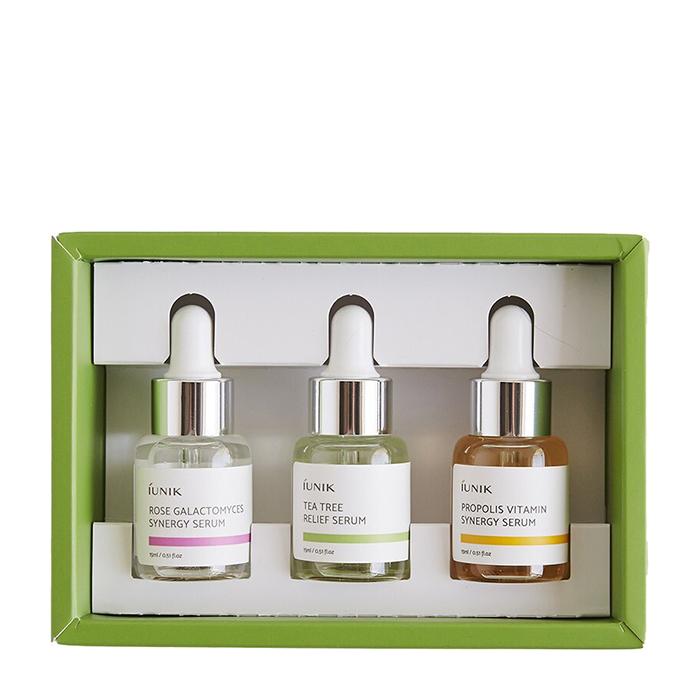 Купить Набор сывороток для лица iUNIK Daily Serum Trial Kit, Набор из трёх сывороток для удовлетворения разных потребностей кожи лица, Южная Корея