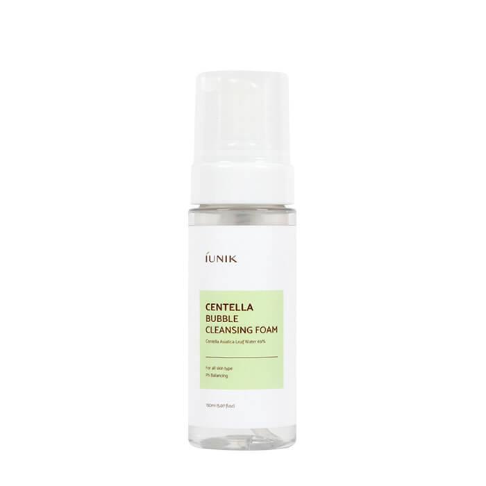 Купить Пенка для умывания iUNIK Centella Bubble Cleansing Foam, Очищающая пенка для умывания кожи лица с экстрактом центеллы азиатской, Южная Корея