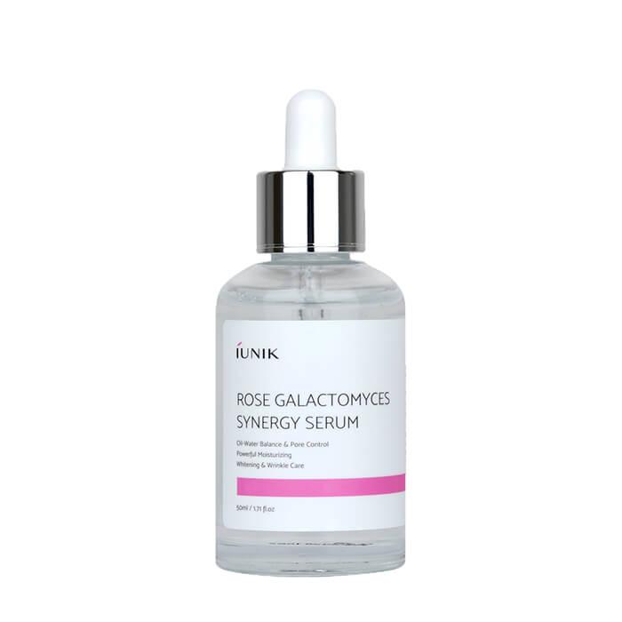 Купить Сыворотка для лица iUNIK Rose Galactomyces Synergy Serum, Увлажняющая сыворотка для кожи лица с розовой водой и галактомисисом, Южная Корея