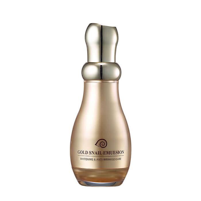 Купить Эмульсия для лица J&G Gold Snail Emulsion, Омолаживающая эмульсия для лица с коллоидным золотом и фильтратом улиточной слизи, J&G Cosmetics, Южная Корея
