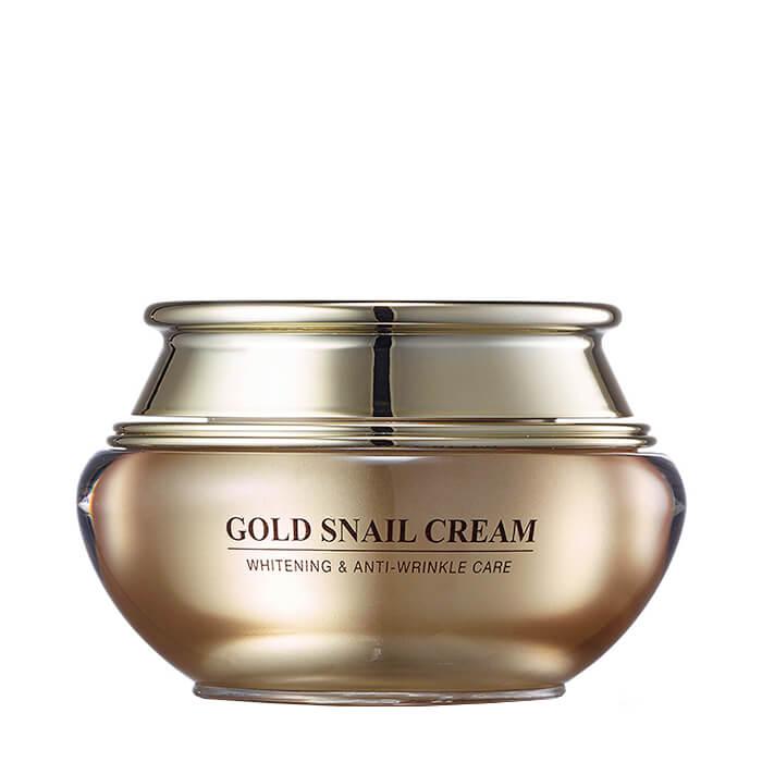 Купить Крем для лица J&G Gold Snail Cream, Антивозрастной крем для лица с коллоидным золотом и фильтратом улиточной слизи, J&G Cosmetics, Южная Корея