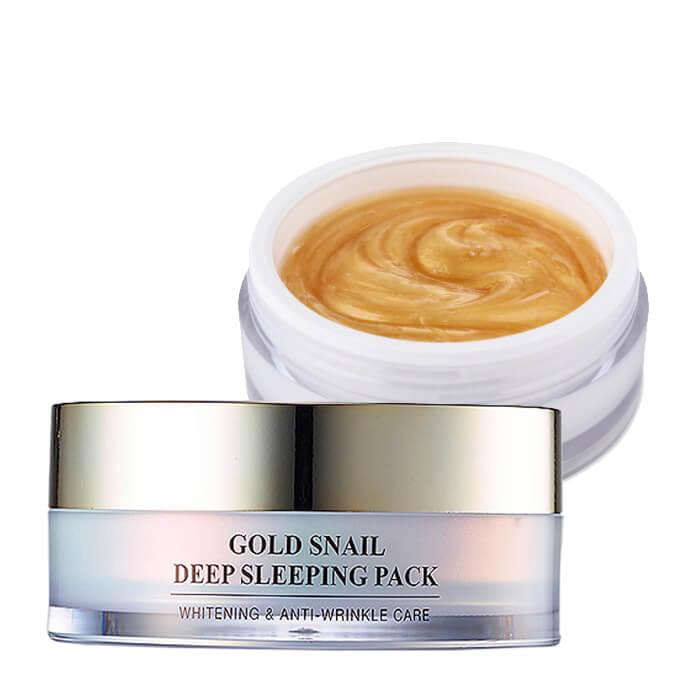 Купить Ночная маска J&G Gold Snail Deep Sleeping Pack, Омолаживающая ночная маска для лица с коллоидным золотом и фильтратом улиточной слизи, J&G Cosmetics, Южная Корея