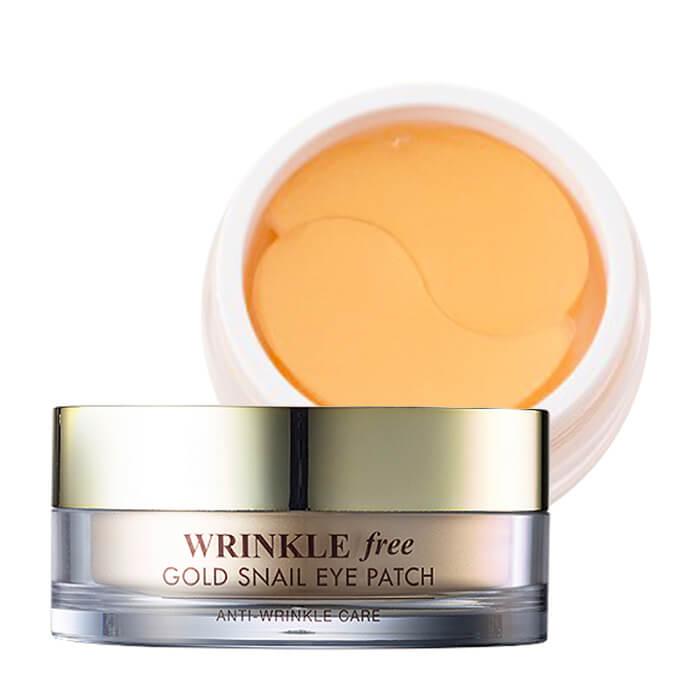 Купить Патчи для век J&G Gold Snail Wrinkle Free Eye Patch, Гидрогелевые патчи для век с коллоидным золотом и фильтратом улиточной слизи, J&G Cosmetics, Южная Корея