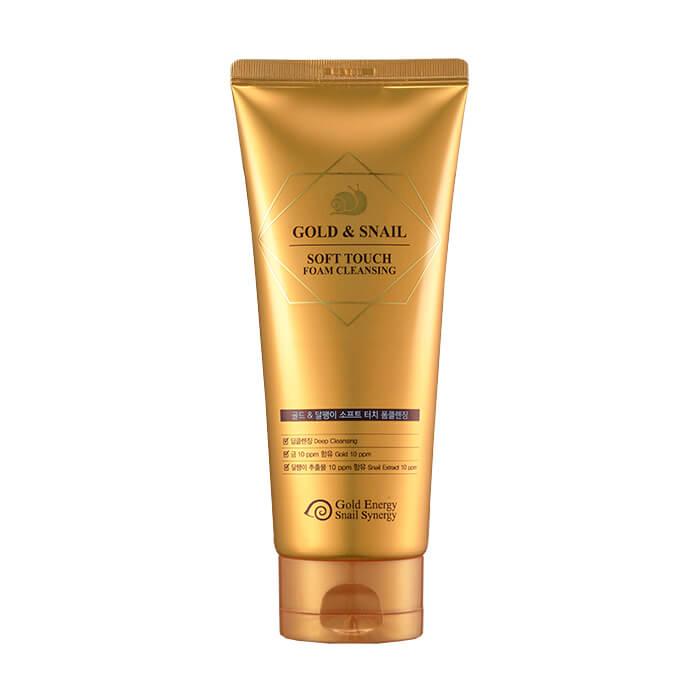 Купить Пенка для умывания J&G Gold Snail Soft Touch Foam Cleansing, Нежная очищающая пенка для лица с коллоидным золотом и фильтратом улиточной слизи, J&G Cosmetics, Южная Корея