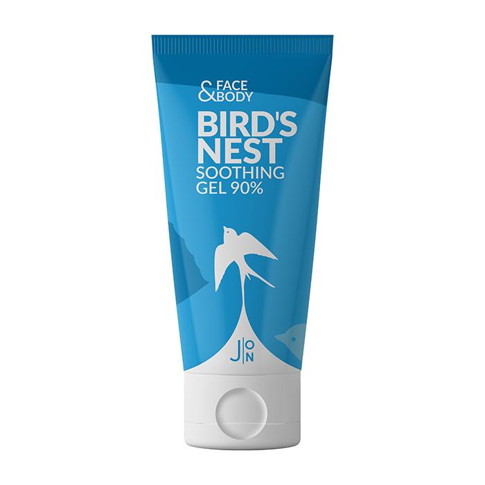 Купить Гель с экстрактом ласточкиного гнезда J:ON Face & Body Bird's Nest Soothing Gel 90%, Универсальный успокаивающий гель для кожи лица и тела с экстрактом ласточкиного гнезда, Южная Корея