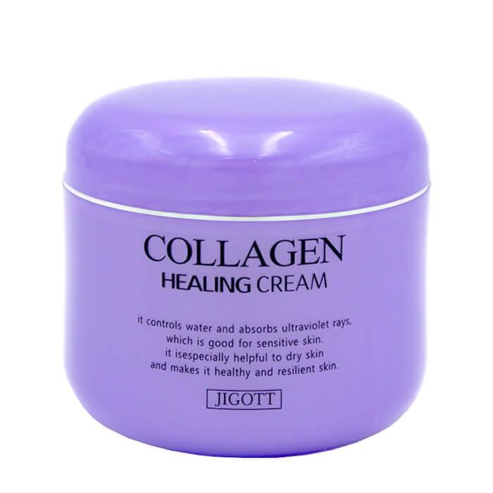 Купить Крем для лица Jigott Collagen Healing Cream, Ночной омолаживающий лечебный крем для лица с коллагеном, Южная Корея