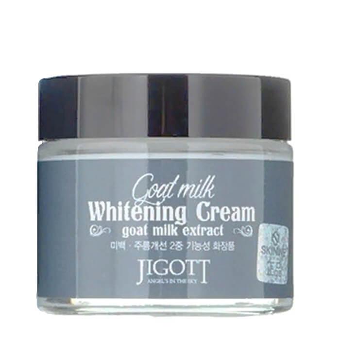Купить Крем для лица Jigott Goat Milk Whitening Cream, Отбеливающий питательный крем для лица с экстрактом козьего молока, Южная Корея