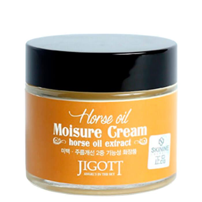 Крем для лица Jigott Horse Oil Extract Moisture Cream Питательный крем для лица с лошадиным жиром фото