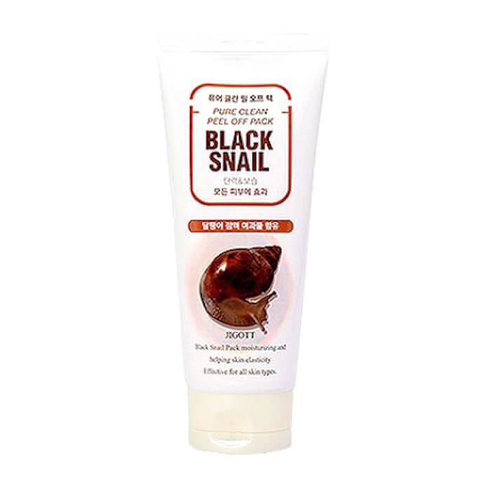Купить Маска-плёнка Jigott Black Snail Pure Clean Peel Off Pack, Глубоко очищающая маска-плёнка для лица с экстрактом слизи чёрной улитки, Южная Корея