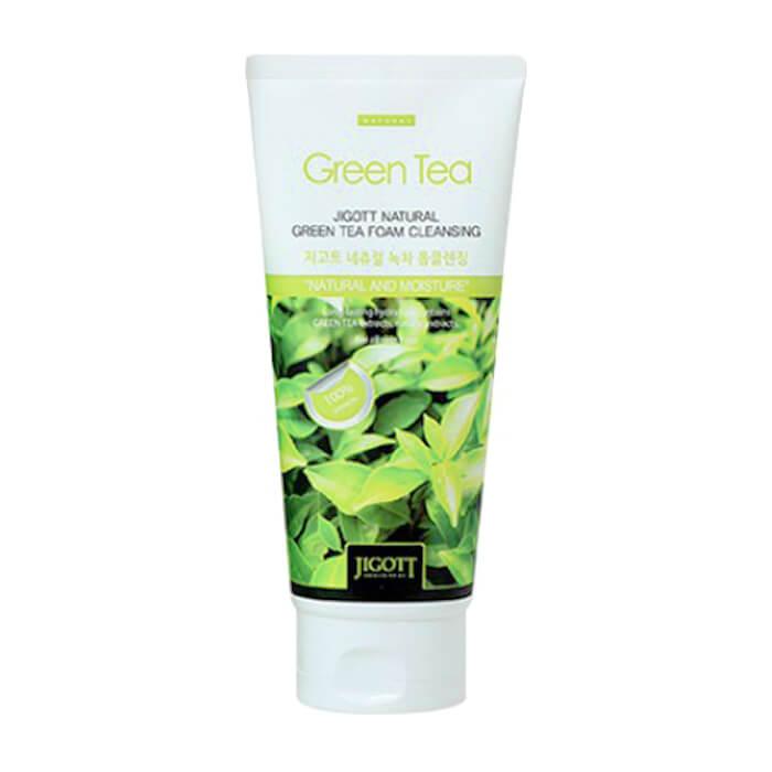 Купить Пенка для умывания Jigott Natural Green Tea Foam Cleansing, Очищающая антиоксидантная пенка для кожи лица с экстрактом зеленого чая, Южная Корея