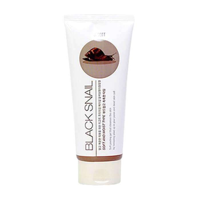 Купить Пилинг для лица Jigott Premium Facial Black Snail Peeling Gel, Пилинг-скатка для глубокого очищения лица с экстрактом слизи чёрной улитки, Южная Корея