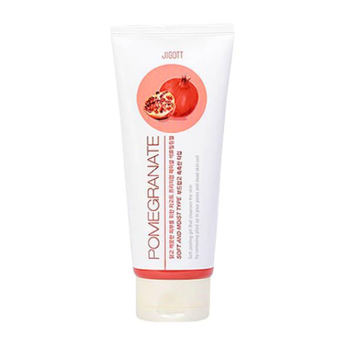 Купить Пилинг для лица Jigott Premium Facial Pomegranate Peeling Gel, Мягкий пилинг-скатка для глубокого очищения кожи лица с экстрактом граната, Южная Корея