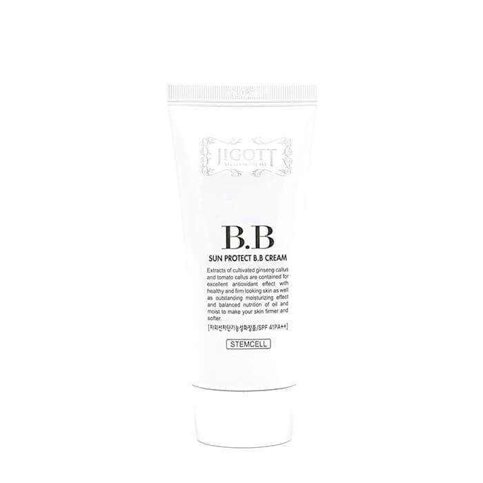 Купить ВВ крем Jigott Sun Protect BB Cream, Солнцезащитный осветляющий ВВ крем для лица с лецитином и керамидами, Южная Корея
