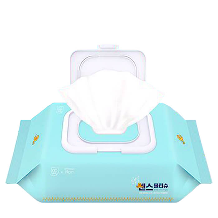 Купить Влажные салфетки Joong Won Sense Secret Day Wet Wipes (100 шт), Влажные безспиртовые салфетки для очищения кожи лица и тела, Южная Корея