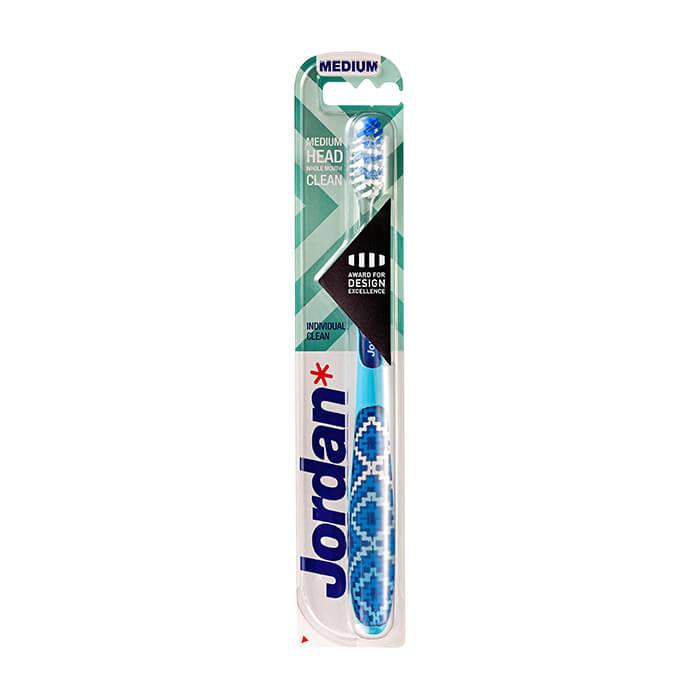 Зубная щётка Jordan Individual Clean Medium Зубная щётка средней жёсткости для быстрой эффективной чистки с широкими движениями фото