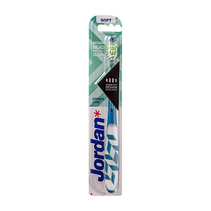 Зубная щётка Jordan Individual Clean Soft Мягкая зубная щётка для быстрой эффективной чистки с широкими движениями фото